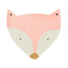Pink Fox print by Sweet Reverie on Society6