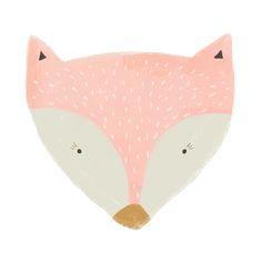 society 6 pink fox Art Print