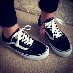 Old skool Vans! My absolute favorite shoes! Wore these all thru High School, love them!