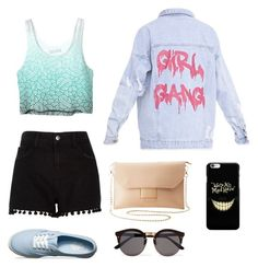 """#72"" by cecilie-monica-nrskov-pedersen on Polyvore featuring Vans, River Island, Charlotte Russe and Illesteva"