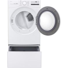 LG Electronics 27 in. Laundry Pedestal with Storage Drawers for Washers and Dryers in White-WDP4W - The Home Depot Injection Mold Design, Lg Washer And Dryer, Kenmore Washer, Laundry Pedestal, Laundry Supplies, Lg Electronics, Front Load Washer, Drawer Dividers, Dryers