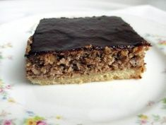 Chocolate walnut slices