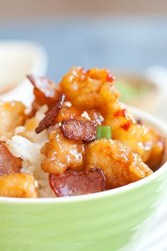 CopycatPanda Express Orange Chicken with Bacon Recipe. You can now make it at home with this easy copycat recipe which is tastier and healthier. http://rasamalaysia.com