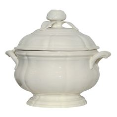 An 18th Century  Creamware Soup Tureen | From a unique collection of antique and modern tureens at https://www.1stdibs.com/furniture/dining-entertaining/tureens/