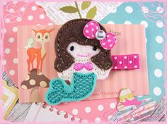 Mermaid Baby Hair Clip Cute Felt Hair Clip by TheBowfairyBowtique