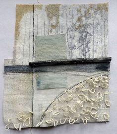 Debbie Lyddon - Small collage think torso Textile Fiber Art, Textile Artists, Textiles Techniques, Art Techniques, Mixed Media Collage, Collage Art, Art Du Fil, Creative Textiles, Embroidery Art
