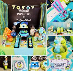 This Monsters University Pre-Scare Back to School Party by Michelle's Party Plan-It deserves an A+! ‪#‎MonstersUniversity‬ ‪#‎BacktoSchool‬ http://hwtm.me/13f2zCZ