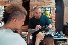 Langanis Barber/Espresso Bar⚜️ (@langanisbarber) • Instagram photos and videos Espresso Bar, High And Tight, Mens Hair Trends, High Fade, Bald Fade, Faux Hawk, Bowl Cut, Comb Over, Crew Cuts