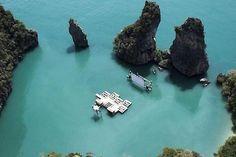 the floating cinema Archipelago Cinema created for the Film On The Rocks Yao Noi Festival in Thailand