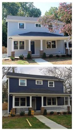 Naval By Sherwin Williams House Exterior Reveal