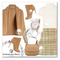 """""""Autumn style with Christian Paul Watches"""" by andrejae ❤ liked on Polyvore featuring Miu Miu, Vince, Alice + Olivia, Casadei, Nine West and christianpaul"""