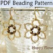 Beading Pattern - Happy Flowers - via @Craftsy