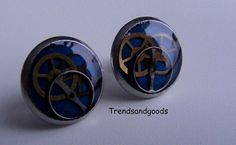 Steampunk Fake Plugs Stud Earrings Stainless by Trendsandgoods