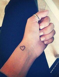 Simple Wrist Tattoos, Small Heart Tattoos, Wrist Tattoos For Women, Heart Tattoo Designs, Tattoos For Women Small, Tattoo Small, Heart Wrist Tattoos, Small Heart Wrist Tattoo, Cute Tattoos For Girls