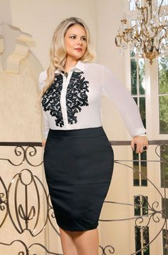 36 Professional Work Outfit Ideas For Plus Size Women Simple Work Outfits, Spring Work Outfits, Look Plus Size, Curvy Plus Size, Plus Size Skirts, Plus Size Outfits, Plus Size Fashion For Women, Plus Size Women, Chubby Fashion