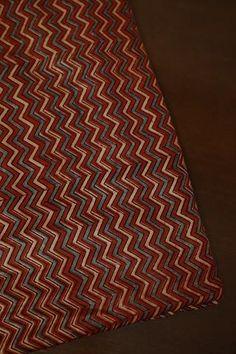 Ajrak Fabric - Buy Ajrak Print Fabrics Online - Matkatus – matkatus Print Fabrics, Prints, Cotton Silk Fabric, Colorful Wallpaper, Fabric Online, Small Flowers, Leaf Design, Indian Dresses, Printed Cotton