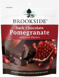Dark Chocolate Pomegranate - These are so delicious, their chewy sweet pomegranate center is such sweet heaven!