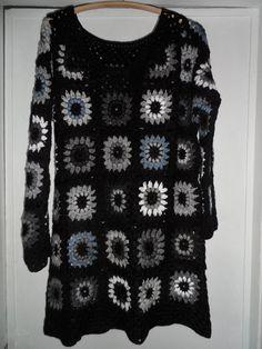Crochet multicolour granny square gipsy hippie boho by krittenart