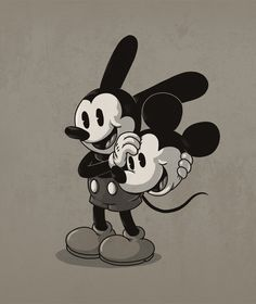 Oswald the Lucky Rabbit takes off a Mickey Mouse Mask -- Icons Unmasked -- by Alex Solis