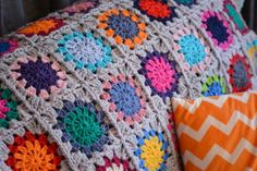 Crochet throw | The Green Dragonfly
