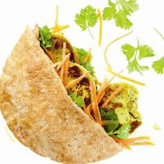 India-Style Chicken Pita Pocket with Side Salad Ingredients: 4 ounces grilled boneless, skinless chicken breast, cubed Tofu Recipes, Healthy Recipes, Healthy Fit, Sandwich Recipes, Chicken Pita, Pita Pockets, Whole Wheat Pita, Thinking Day, Coconut Curry
