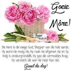 Die Here is die ewige God, Skepper van die hele aarde. Hy word nie moeg nie, Hy raak nie afgemat nie en Sy insig is ondeurgrondelik. Good Morning Messages, Good Morning Greetings, Good Morning Wishes, Day Wishes, Good Morning Quotes, Lekker Dag, Evening Greetings, Afrikaanse Quotes, Goeie Nag