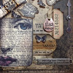 Pin by tonya trantham on ideas for journals/chunky books. Atc Cards, Card Tags, Altered Books, Altered Art, Collages, Art Journal Inspiration, Journal Ideas, Muse, Scrapbook Supplies