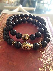 Eternal Knot & Buddha Bracelet Set