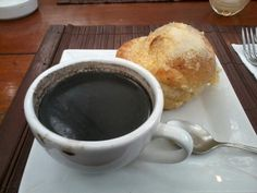 Breakfast @ Cafe by the Ruins...hot choco with ensaymada.....