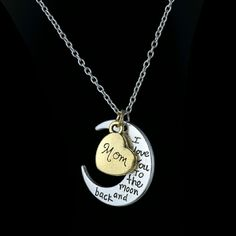 "MOM Necklace MOM ""I love you to the moon and back"" Approx. 21"" Also available in dad, sister and brother. Brand new  (perfect for gifting) Jewelry Necklaces"