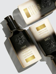 Oribe Balm d'Or Heat Styling Shield   Verishop Best Anti Dandruff Shampoo, Maracuja Oil, Optical Character Recognition, How To Curl Your Hair, Textured Hair, The Balm, Perfume Bottles, Healing, Technology