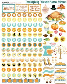Thanksgiving November Kit Printable Planner by DigiScrapDelights OVER 200…