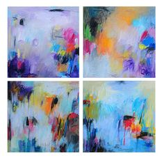Abstract Painting, Oil Painting, Fine Art Print , Giclee Prints Set 12x12 , Wall Art , Wall Décor ,