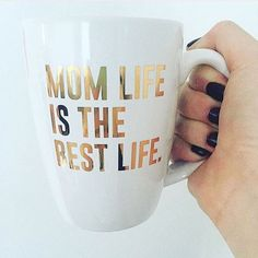 All I have ever wanted was to be a mom. #MomLifeIsTheBestLife #momlife #momlifestyle #gold #coffeemug