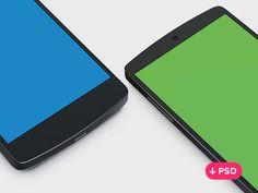 Nexus 5 PSD template