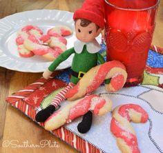 Candy Cane Cookies (Elf Favorite!) ~ http://www.southernplate.com