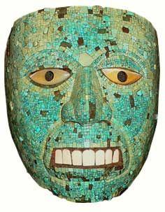 Ancient Mexico - Turquoise Mask of Xiuhtecuhtli the god of fire; Ancient Art, Ancient History, Aztec Mask, Aztec Culture, Latina, Mesoamerican, Inca, Mexican Art, Ancient Civilizations