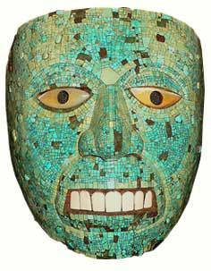 Turquoise Mask of Xiuhtecuhtli the god of fire; Aztec, 14th Century