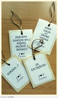 Zawieszki na alkohol z toastami na Stylowi.pl