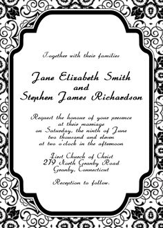 224 Best Wedding Invitation Templates Free To Print Images In 2019