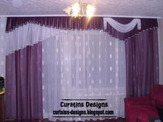 luxury drapes curtain design for bedroom, this luxury curtain made of embossed green fabric and have gilded crown in the top, so it's a royal curtain design for bedroom