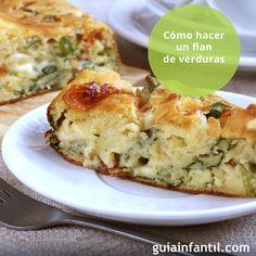 Una buena forma para animar a los niños a comer verduras es presentárselas de forma original, como este colorido flan de verduras. ¡Delicioso! http://www.guiainfantil.com/navidad/recetas/flanverduras.htm