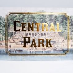 Vintage Central Park maps with gold foil make beautiful cards for anyone who loves the city.