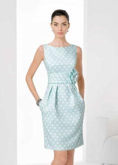 Kurzes, getupftes Piqué-Kleid (c) Rosa Clara Simple Dresses, Pretty Dresses, Blue Dresses, Vintage Dresses, Beautiful Dresses, Short Dresses, Formal Dresses, Office Outfits, Dress Patterns