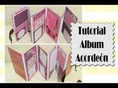 Cómo hacer un álbum acordeón - DIY SCRAPBOOK TUTORIAL - YouTube