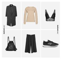 Lässig geschnittener Blazer und Stoffhose, cleanes Sweatshirt als Akzent und hochwertiges Bustier, Rucksack und Sneaker. Hier entdecken und shoppen: http://sturbock.me/MVN
