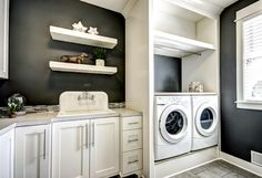 6 Vibrant Cool Tips: Transitional Contemporary Spaces transitional kitchen granite.Transitional Living Room On A Budget transitional decor exterior. Laundry Room Colors, Laundry Cabinets, Room Wall Colors, Laundry Room Cabinets, Laundry Room Organization, Laundry Room Design, Laundry Rooms, Laundry Appliances, Laundry Area