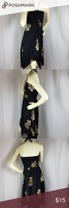 YF Floral Print Halter Top Dress Size S/M Young Fashion  Halter Top Dress  Asymmetrical hem line  Good condition Dresses Midi