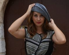 This hat is designed and handmade in Spain, Europe using the best quality of felted wool cones (100% WOOL).  It is very warm and suitable for the winter days and any time you want to add a plus of elegance and a flattering touch to your outfit. It is lightweight and comfortable to wear and also foldable (great for traveling).  One size fits most heads.  Item ready to ship. All the items are shipped with tracking number and the delivery time varies based in location. This is the approximate…