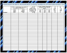 All of the math common core standards at your fingertips, on an easy to edit table. This product will help you keep your students' data of standard mastery.